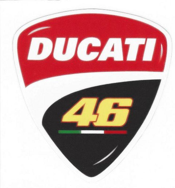 Aufkleber Ducati 46 Valentino Rossi im Corse Design