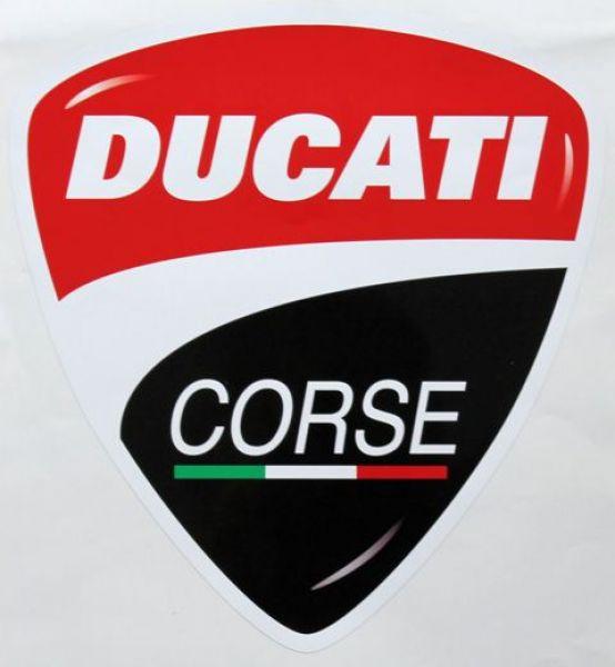 Aufkleber im neuen Ducati Corse Design 275 x 300 mm