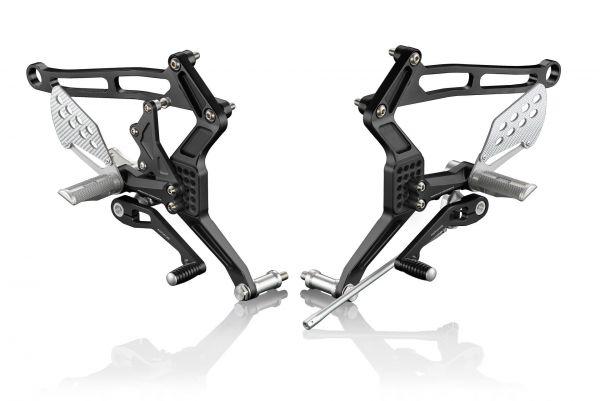 """Fußrastenanlage """"REV"""" Ducati Monster 600 bis S4 mit TÜV"""