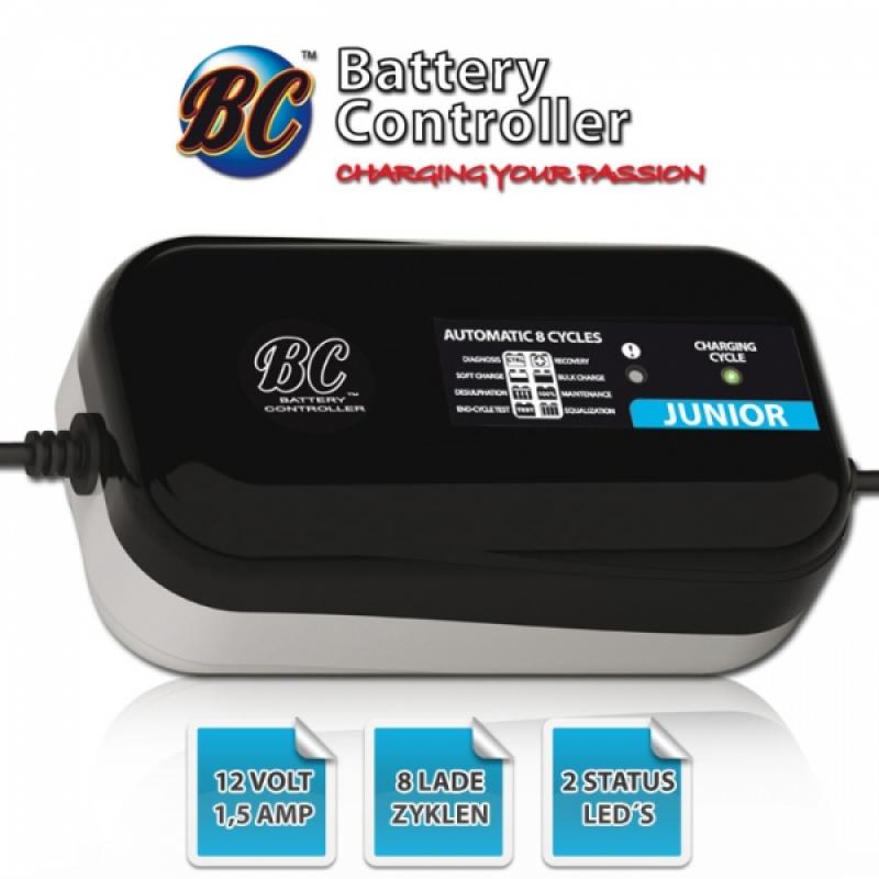 "Batterieladegerät BC ""Junior 1500"", 12 Volt, 3Ah bis 70Ah Aufladung, bis zu 100Ah Erhaltung"