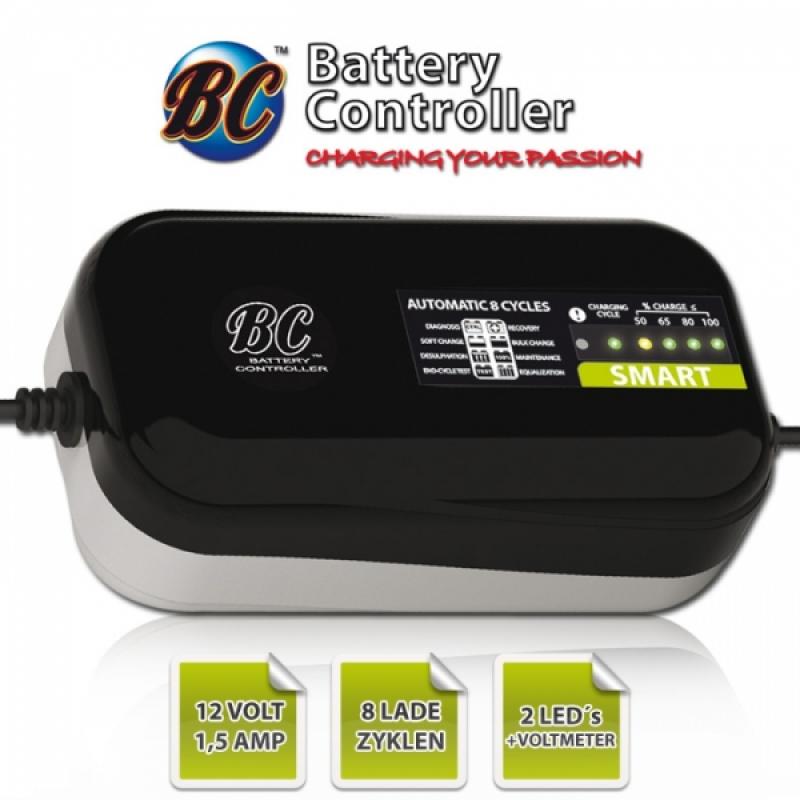 """Batterieladegerät BC """"Smart 1500"""", 12 Volt, 3Ah bis 70Ah Aufladung, bis zu 100Ah Erhaltung"""