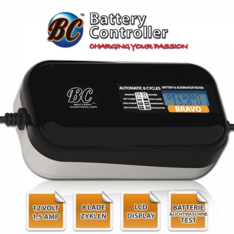 """Batterieladegerät BC """"Bravo 1500"""", 12 Volt, 3Ah bis 70Ah Aufladung, bis zu 100Ah Erhaltung"""