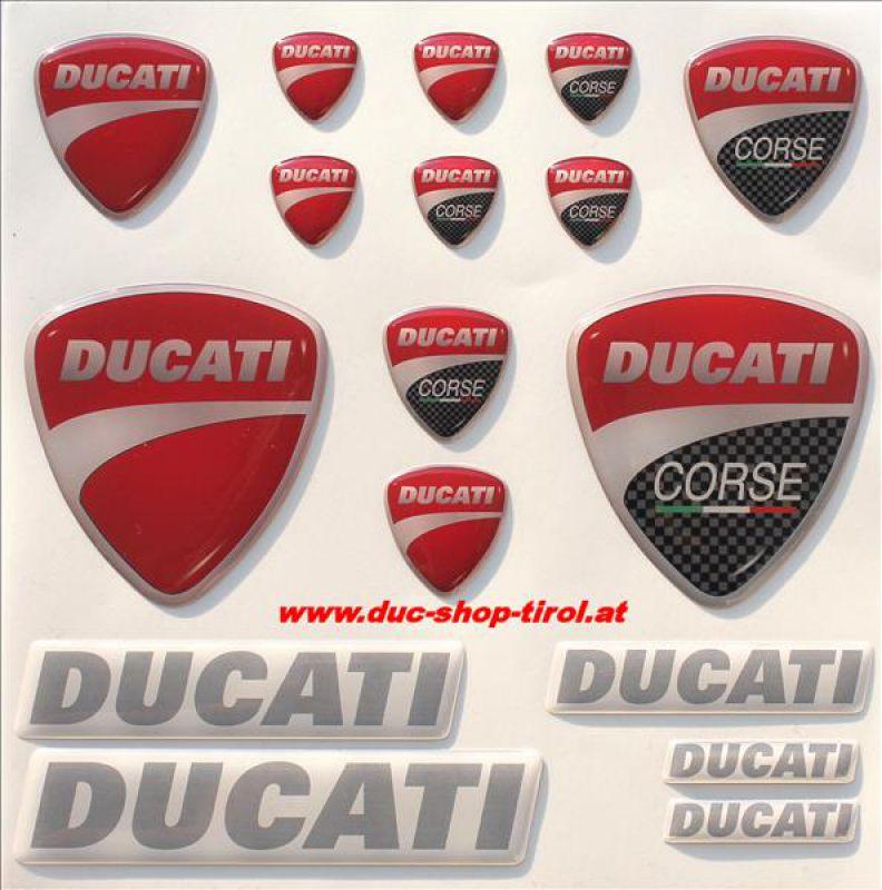 Doming 3D Aufklebersatz 17 Stk. Ducati Corse