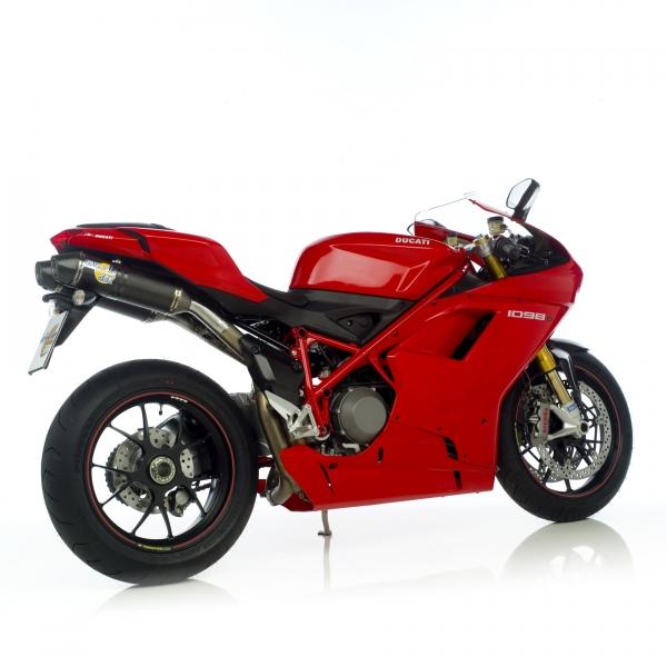 SBK 2-1-2 Komplettanlage Factory Evo2 Carbon Ducati 1198 / S mit EG-ABE