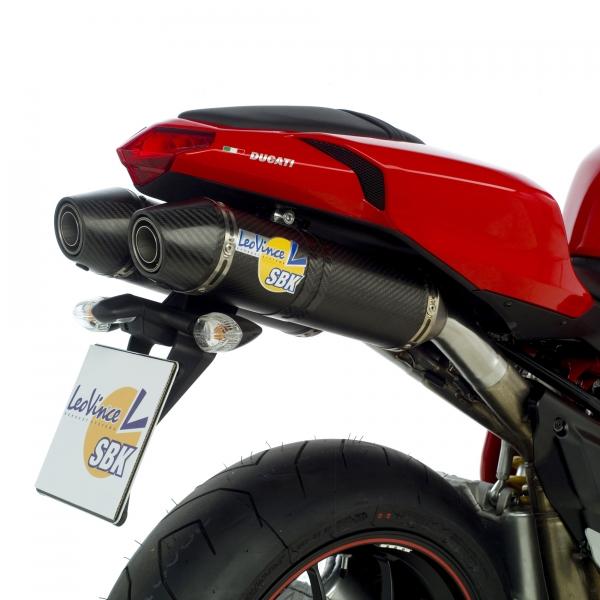 SBK Slip On Factory Evo2 Carbon mit Carbon Endkappe Ducati 848 / 1098 mit EG-ABE