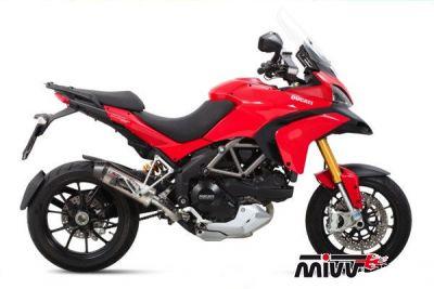 Auspuff Sport OVAL SLIP-ON für Ducati MULTISTRADA 1200 ab Bj. 2010