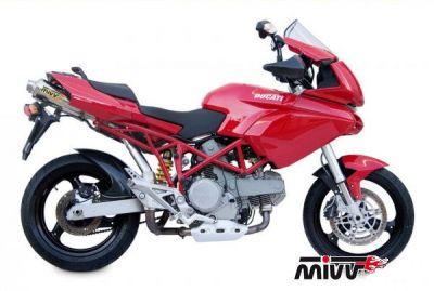 Auspuff Sport X-Cone SLIP-ON Underseat für Ducati MULTISTRADA 1000/1100 ab Bj. 2004