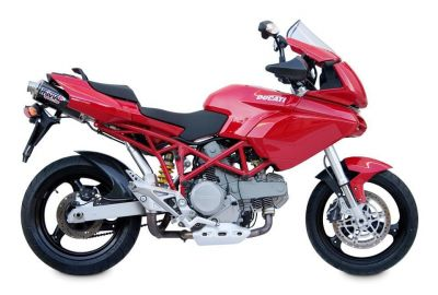 Auspuff Sport OVAL SLIP-ON Underseat Ducati MULTISTRADA 620 ab Bj. 2005