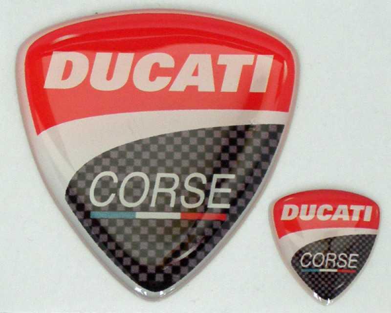 Doming 3D Aufkleber (Set) Ducati Corse Logo 2010
