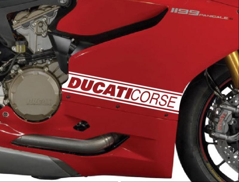 Ducati Corse Verkleidungsaufkleber im Set links /rechts Ducati 899 und 1199 Panigale