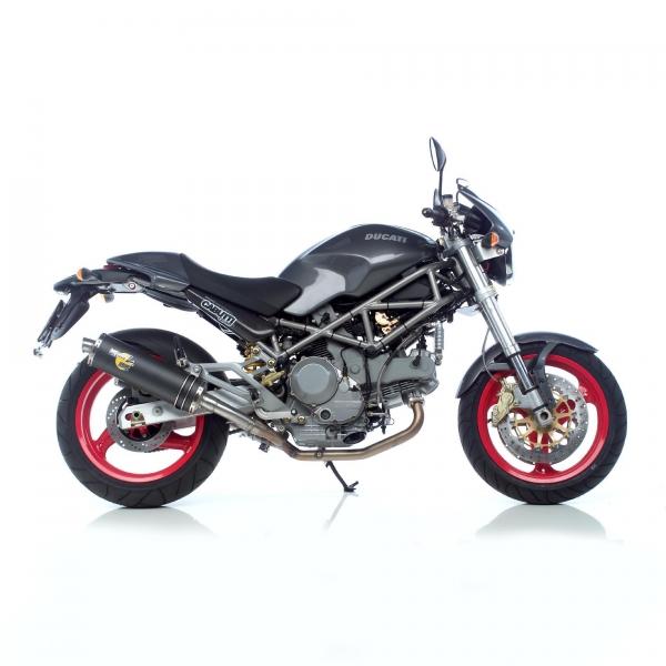 SBK Slip On Evo2 Oval Carbon Ducati Monster 600 bis 1000 mit EG-ABE