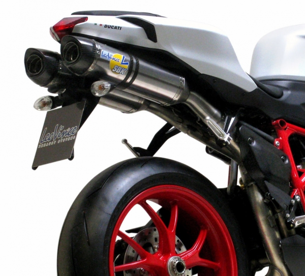 SBK Slip On Factory Evo2 Titan mit Carbon Endkappe Ducati 848 / 1098 mit EG-ABE