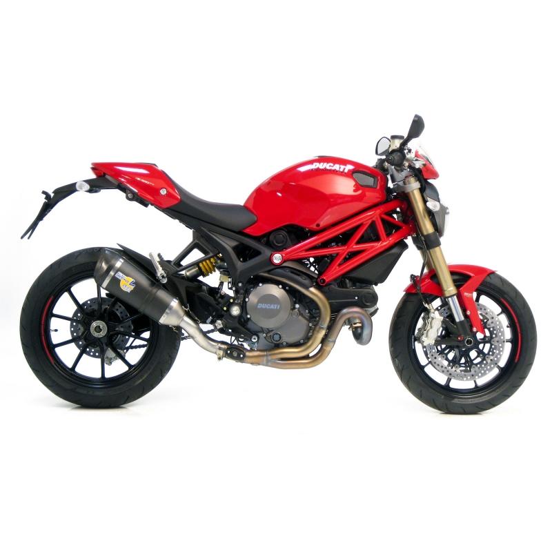 SBK Slip On Factory R Evo2 Carbon mit Carbon Endkappe Ducati Monster 1100 Evo mit EG-ABE