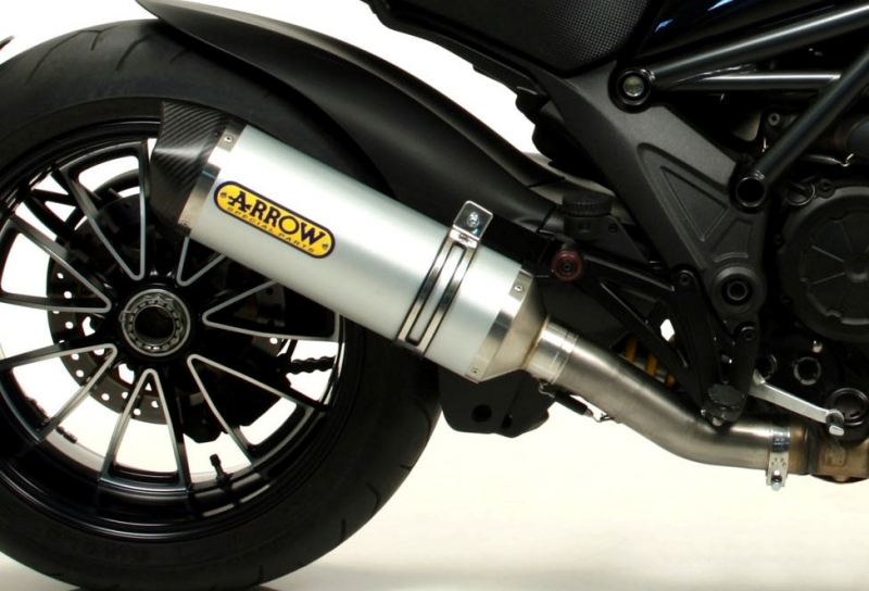 SLIP-ON Schalldämpfer Race-Tech Aluminium mit Carbonendkappe DUCATI Multistrada 1200